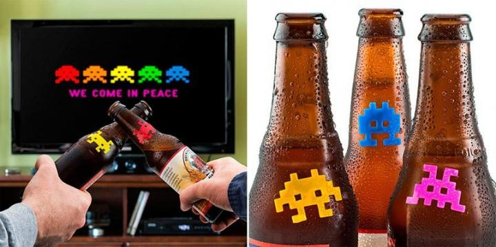 Marcadores de garrafas de Space Invaders