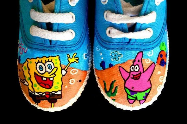 Sapatos do Sponge Bob e do Patrick